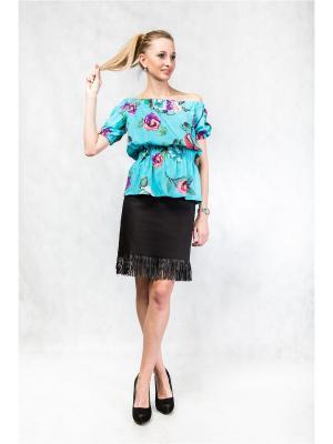 Блузка Glam Goddess. Цвет: бирюзовый