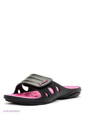 Пантолеты Rider. Цвет: черный, розовый