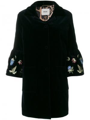 Velvet embroidered sleeve coat Bazar Deluxe. Цвет: синий