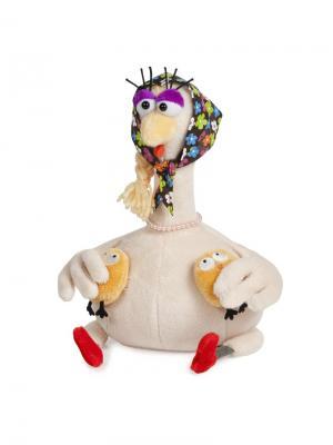 Курочка с Цыплятками, 26 см (MT-TSA-8310-26) MAXITOYS. Цвет: бежевый, красный, оранжевый, желтый, коричневый, голубой, сиреневый