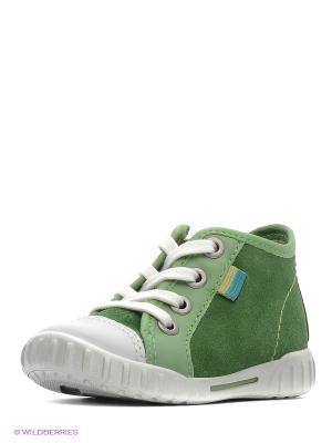 Кеды ECCO. Цвет: зеленый, белый