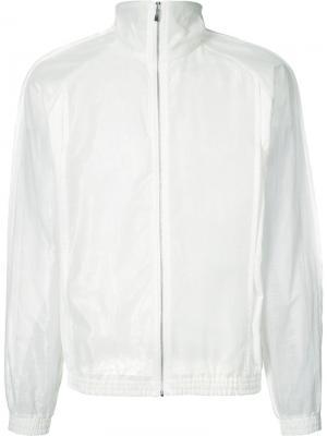 Полупрозрачная куртка-ветровка на молнии Cottweiler. Цвет: белый