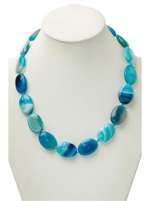 Бусы Oceania. Цвет: голубой
