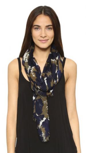 Винтажный шарф с леопардовым принтом Diane von Furstenberg