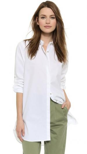 Свободная рубашка M.i.h Jeans. Цвет: белый