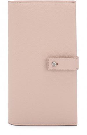 Кожаное портмоне с футляром для кредитных карт Saint Laurent. Цвет: светло-розовый
