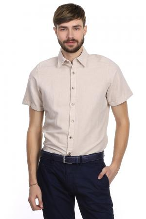 Рубашка с коротким рукавом Pezzo. Цвет: бежевый