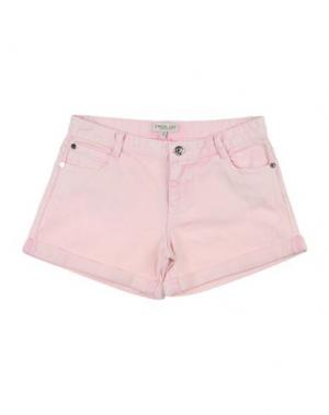 Джинсовые шорты TWIN-SET Simona Barbieri. Цвет: светло-розовый