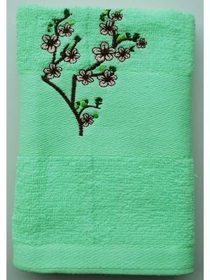Полотенце Сакура 50х90 La Pastel. Цвет: салатовый
