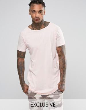 Other UK Удлиненная футболка. Цвет: розовый