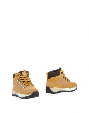 Полусапоги и высокие ботинки GEOX. Цвет: охра