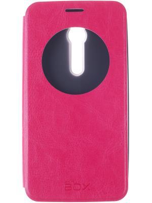 Кейс-книжка для Asus ZenFone 2 skinBOX. Цвет: красный