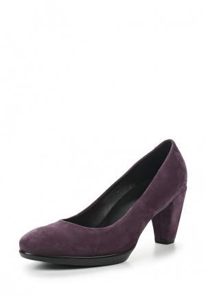 Туфли Ecco. Цвет: фиолетовый