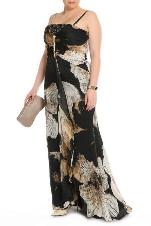 Платье вечернее Clips. Цвет: черный, бежевый