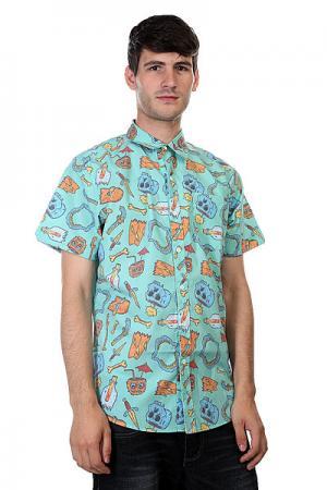 Рубашка  Broken Dreams Aqua Lost. Цвет: голубой