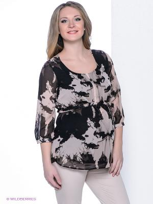 Блузка Mama Licious. Цвет: коричневый, бежевый