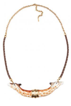 Колье 122319 Nach Jewellery. Цвет: коричневый