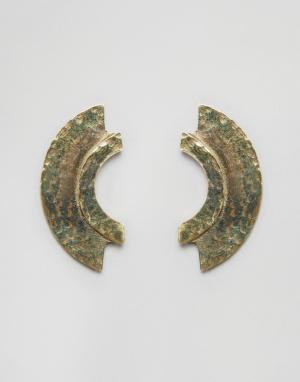 Made Серьги-гвоздики. Цвет: золотой