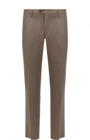 Шерстяные брюки прямого кроя Berwich. Цвет: бежевый