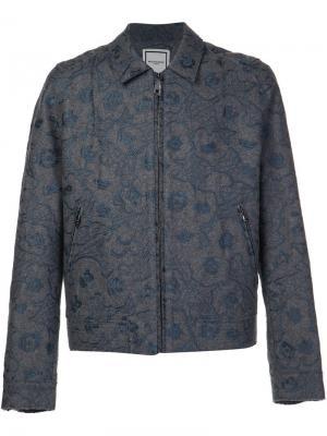 Куртка на молнии с вышивкой Wooyoungmi. Цвет: серый
