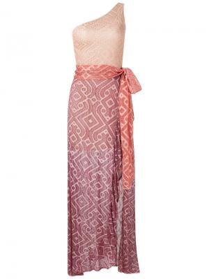 Knit maxi dress Cecilia Prado. Цвет: розовый и фиолетовый