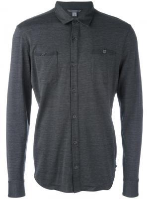Рубашка Pocket-Front John Varvatos. Цвет: серый