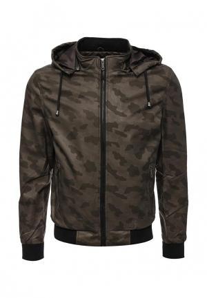 Куртка кожаная B.Men. Цвет: коричневый