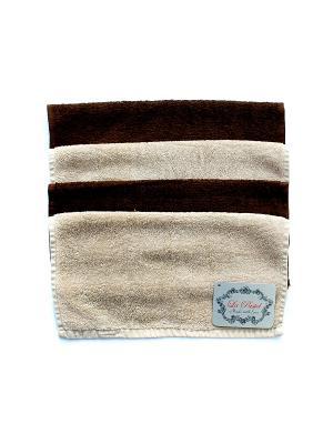 Набор полотенец 4 предмета 30х30 La Pastel. Цвет: коричневый, светло-коричневый