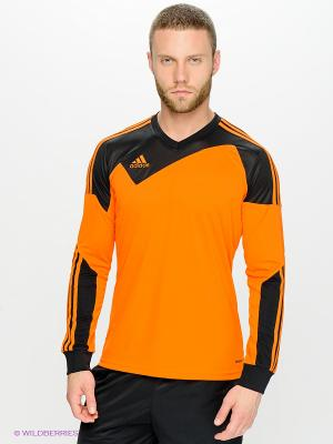 Лонгслив Adidas. Цвет: оранжевый, черный