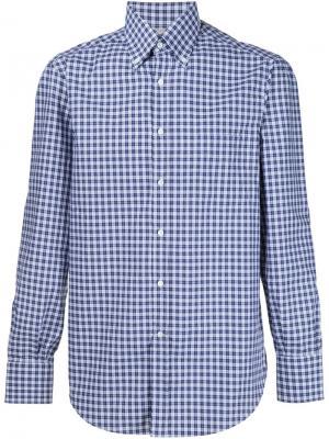 Рубашка в клетку Brunello Cucinelli. Цвет: синий