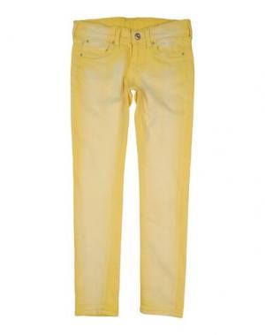 Джинсовые брюки PEPE JEANS. Цвет: желтый