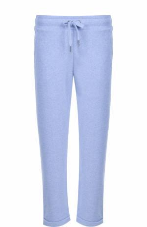 Укороченные брюки с отворотами Derek Rose. Цвет: голубой