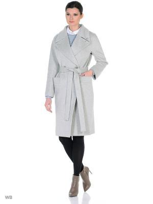 Пальто Anora. Цвет: светло-серый