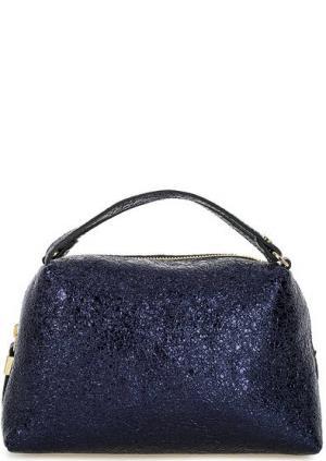 Маленькая кожаная сумка с короткими ручками Gianni Chiarini. Цвет: синий