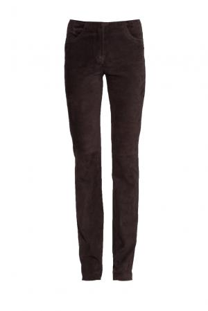 Замшевые брюки 160428 Jitrois. Цвет: коричневый