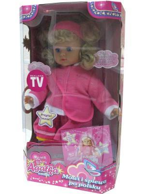 Agatka Кукла говорит и поет 37см, 3 в ассорт., CD подарок MSN TOYS. Цвет: белый, серый, розовый