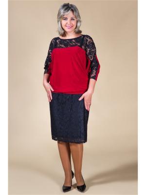 Блузка Милада. Цвет: бордовый