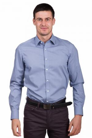 Рубашка с длинным рукавом Olymp. Цвет: синий