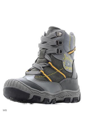 Ботинки ортопедические ORTHOBOOM. Цвет: серый, желтый