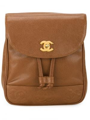 Классический рюкзак Chanel Vintage. Цвет: коричневый