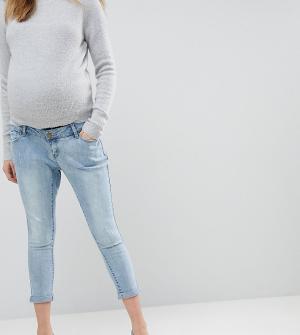 Bandia Джинсы бойфренда для беременных со съемной вставкой Maternity. Цвет: синий