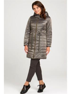 Пальто Modress. Цвет: оливковый