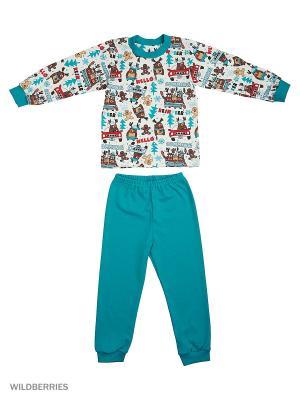Пижама Лео. Цвет: бирюзовый