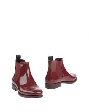 Полусапоги и высокие ботинки MÈNGHI. Цвет: пурпурный