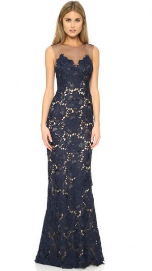 Вечернее платье Elvi Catherine Deane. Цвет: темно-синий