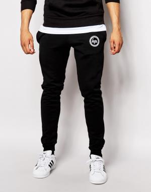 Hype Зауженные спортивные брюки с логотипом. Цвет: черный