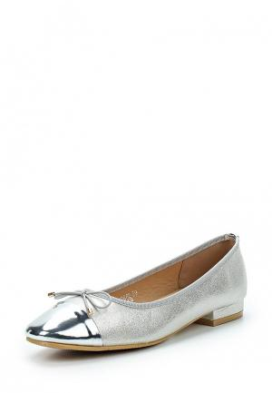 Туфли Exquily. Цвет: серебряный