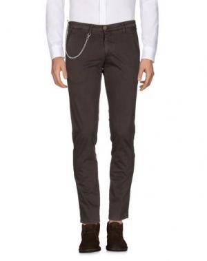 Повседневные брюки MANUEL RITZ. Цвет: темно-коричневый