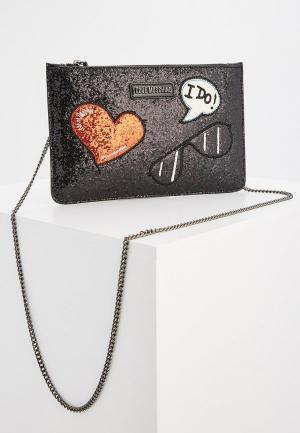 Клатч Love Moschino. Цвет: черный