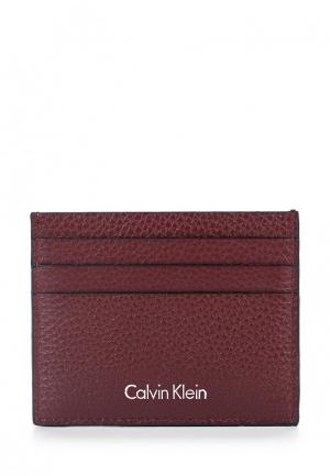Визитница Calvin Klein Jeans. Цвет: бордовый